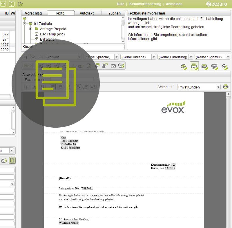 Faxe und Briefe mit dem Multikanal Clienten digitalisieren